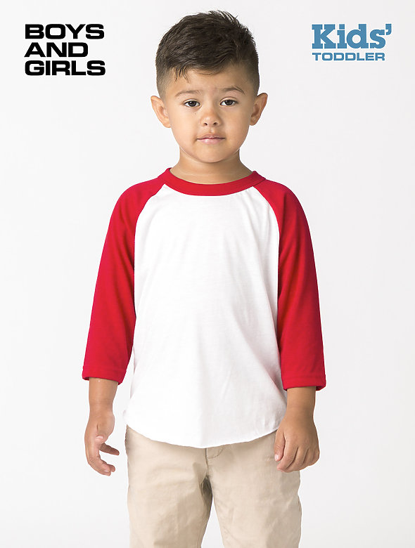 Toddler 3/4 Slv Ply Ctn Raglan