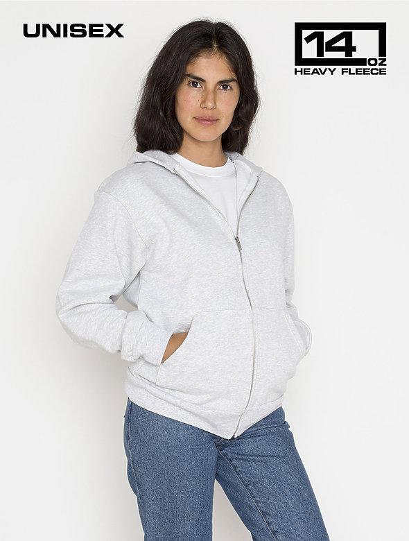 L/S Heavy Fleece Zip Up 14 oz
